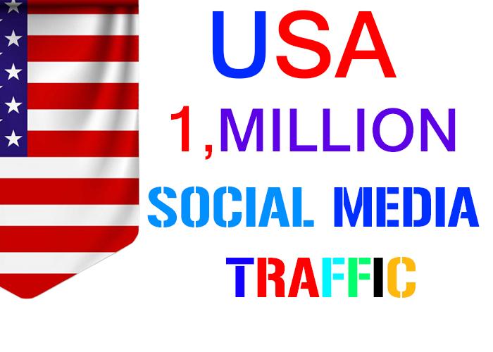 60 Days send 1, million USA target social media real traffic