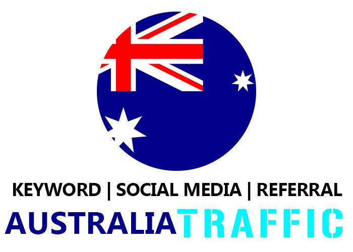 Send Australia Organic Keyword,  Social Media,  Referral Traffic