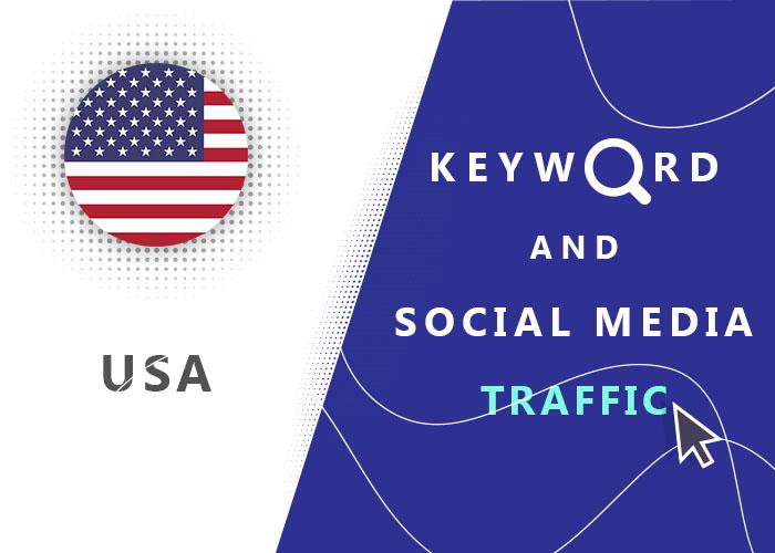 Send USA Organic Keyword And Social Media Traffic