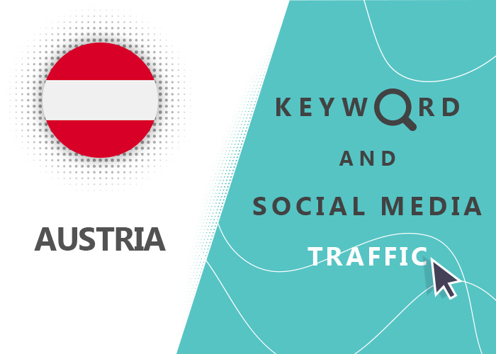 Send Austria Organic Keyword And Social Media Traffic