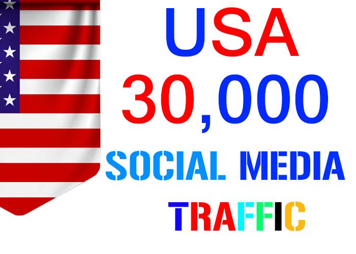 send 30,000 USA target social media real traffic