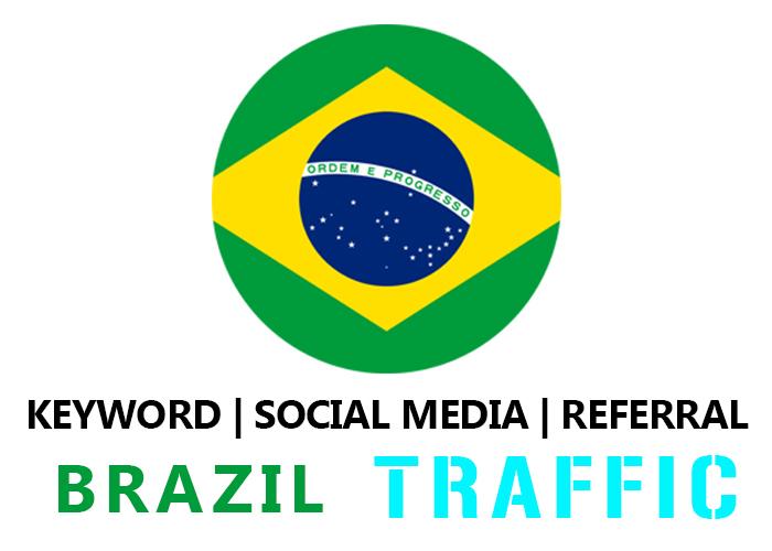 Send Brazil Organic Keyword,  Social Media,  Referral Traffic