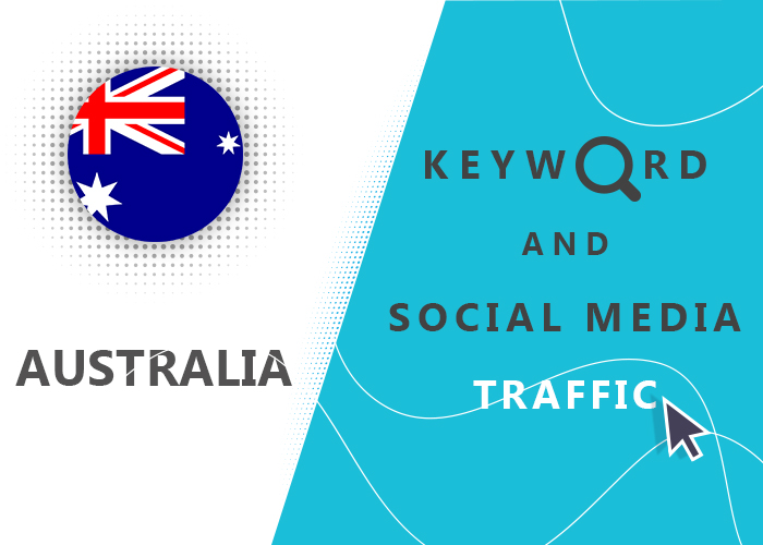 Send Australia Organic Keyword And Social Media Traffic