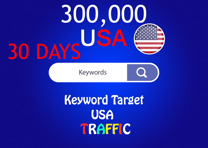 send 300,000 keyword target USA real traffic for 30 days