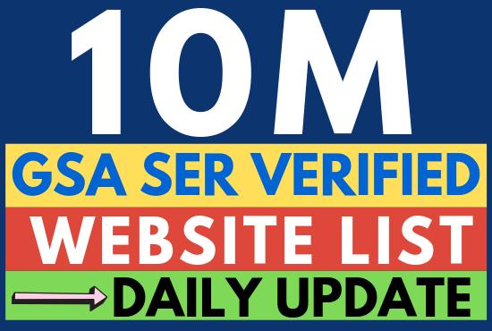 Updated 100,000, 00 Plus GSA Ser Verified Links list 2019