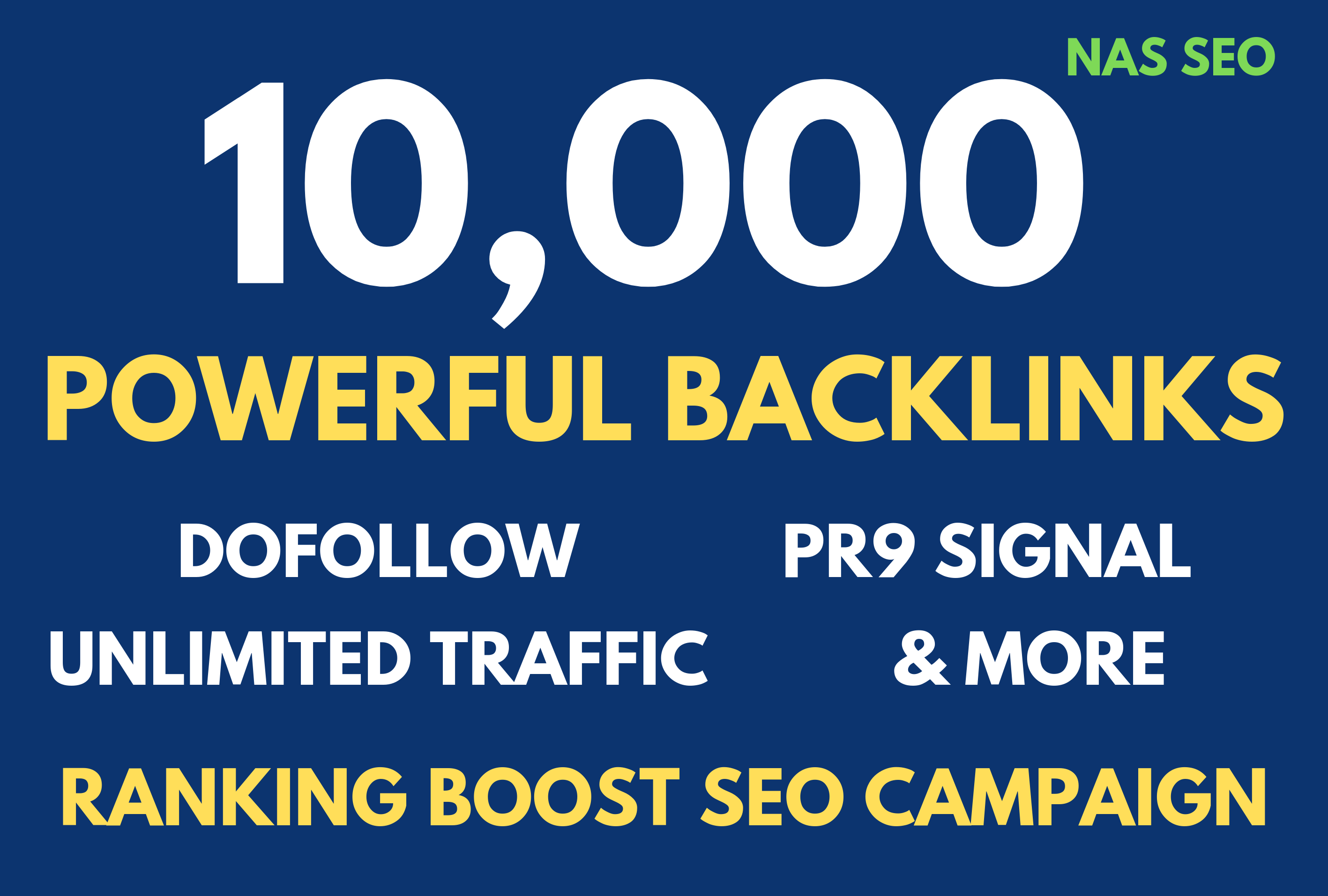 Powerful 10,000 Dofollow Backlinks - PR9 Social Signals with Bookmarks Added - UNLIMITED Traffic
