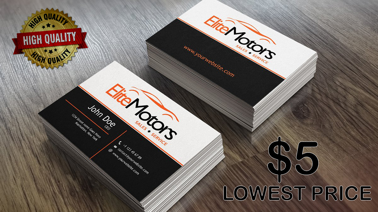 A Premium, Unique and Professional Business Card Design for You