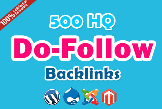 Do 500 Do-follow high PR4-PR7 Backlinks for website ranking