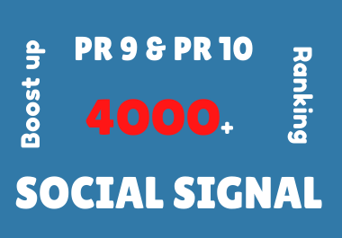 Viral Your Website Through 4000 Social Signals.