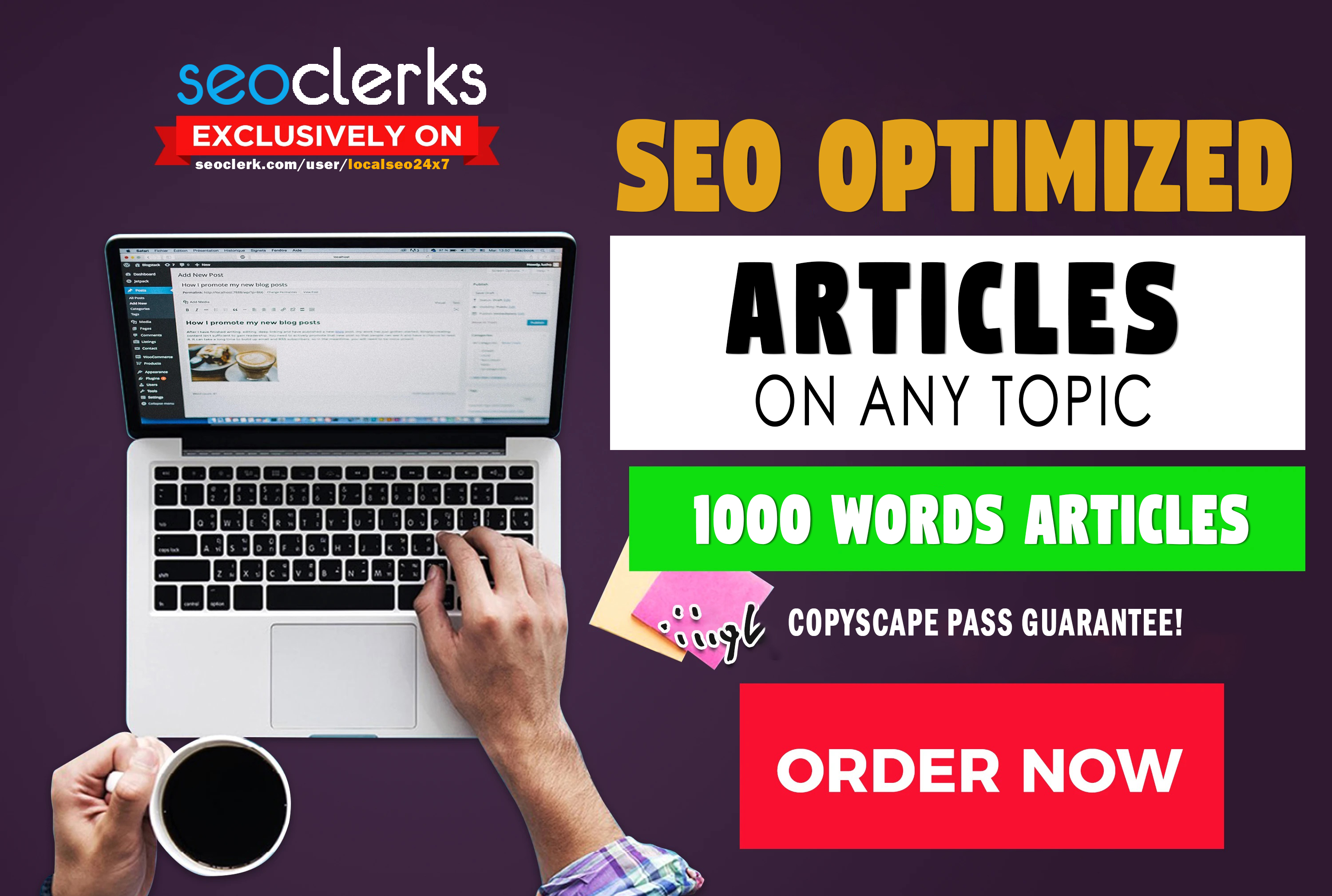 Manually Write 1000 Words SEO Optimized Articles And Blogs On Any Topic