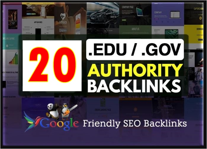20 edu gov high PR authority backlinks-Top service