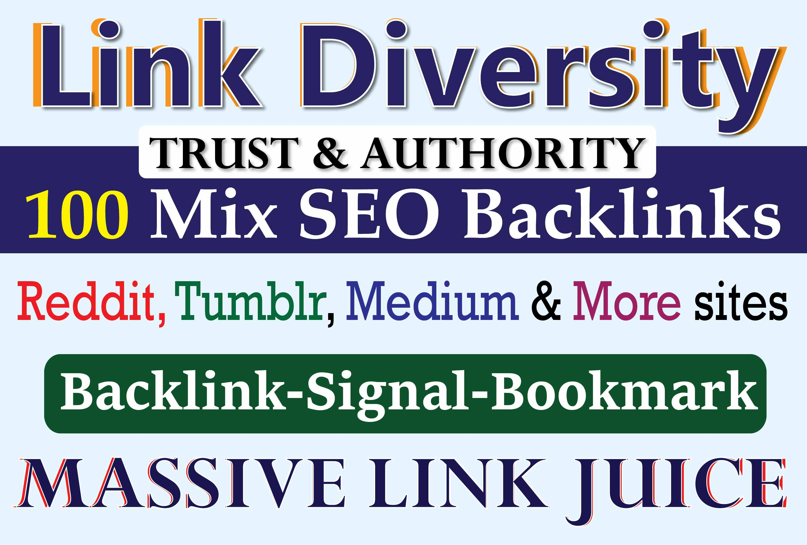 100 High Authority SEO Bookmarks,  Backlinks & SEO Signals on Worlds Top DA80+ Sites for Best Ranking