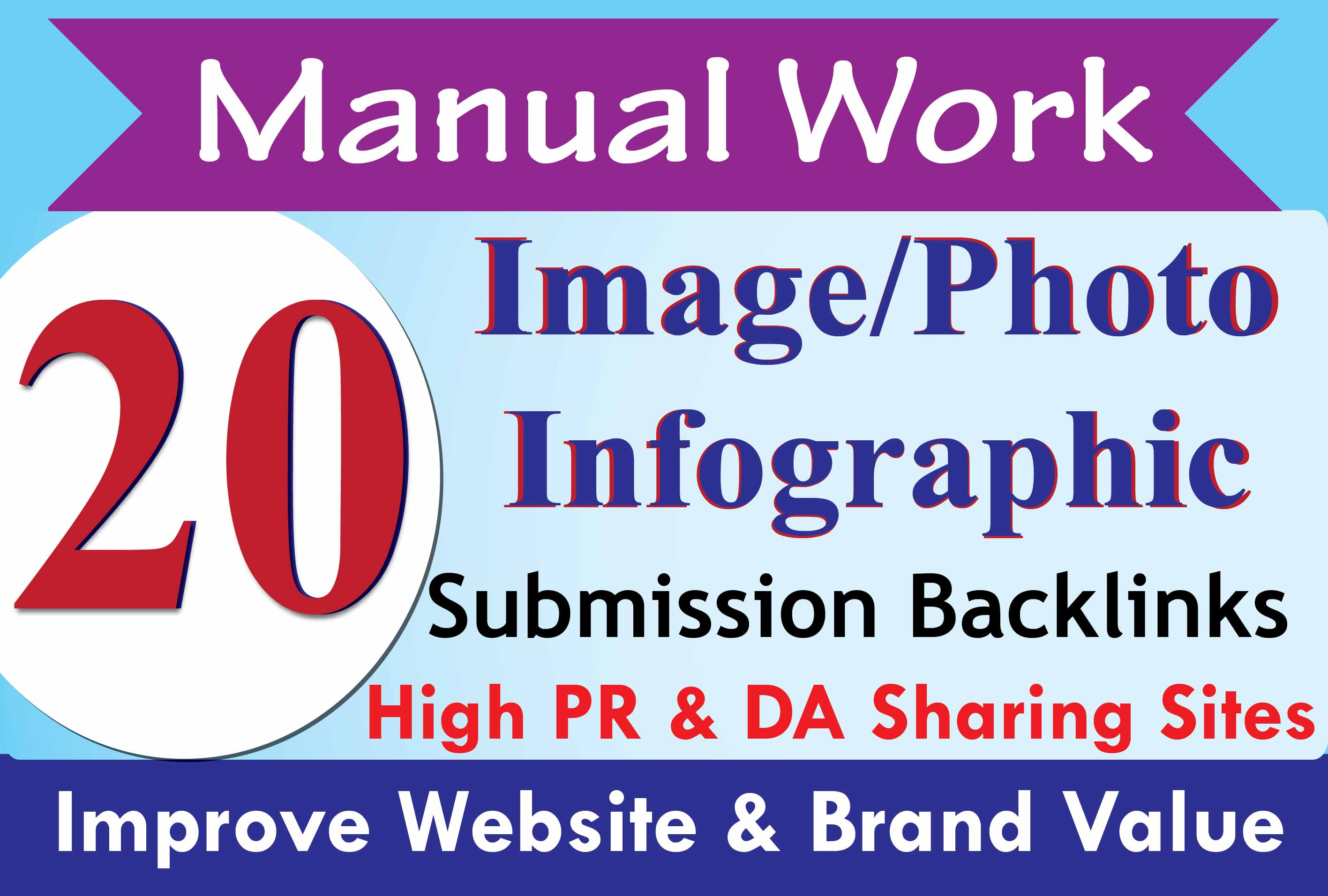 Get Extreme SEO infographic or image submission to high PR photo sharing sites with SEO Backlinks