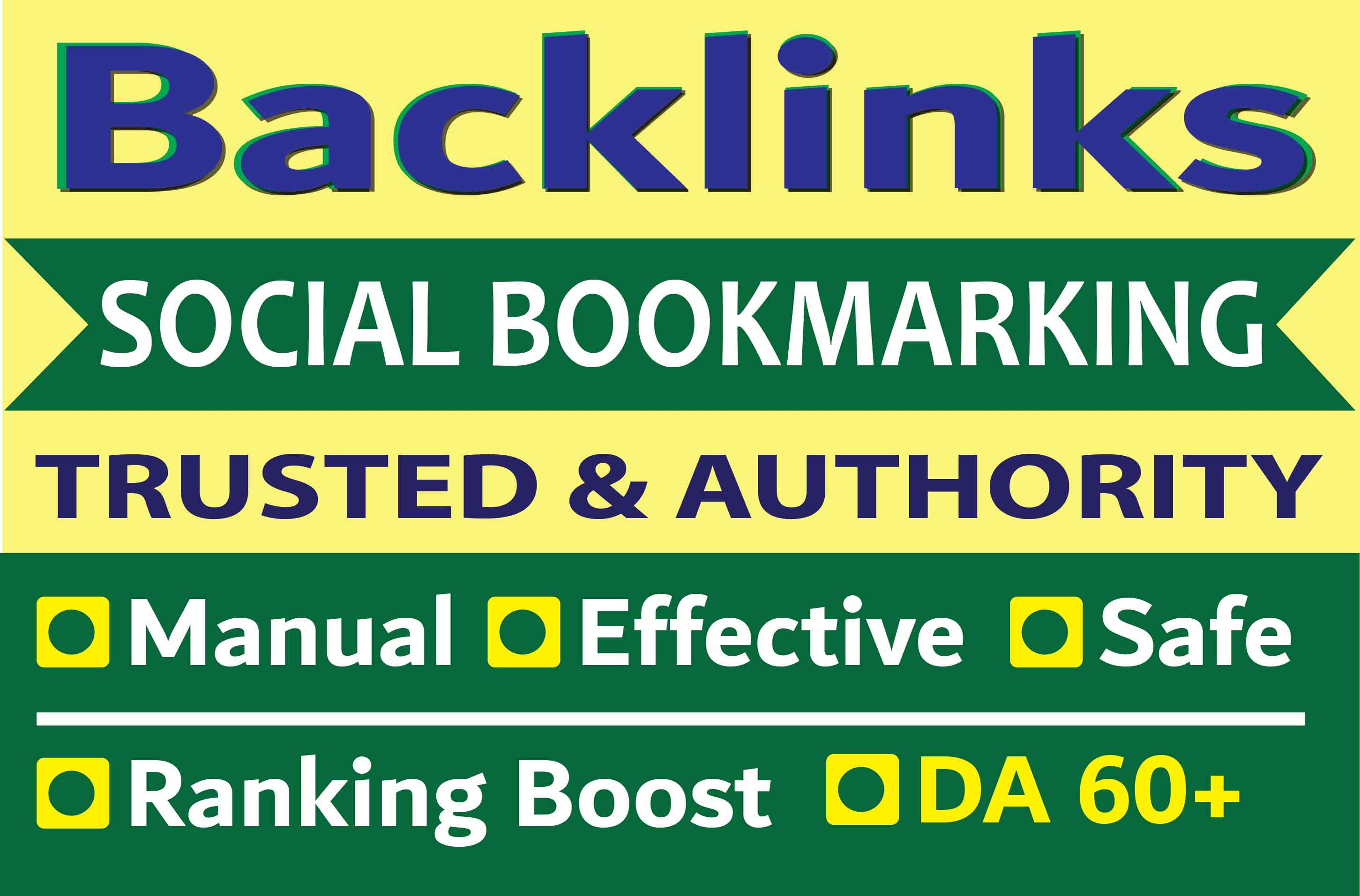 Manual 30 SEO Social Bookmarking Contextual Authority Backlinks to get Google First Page ranking