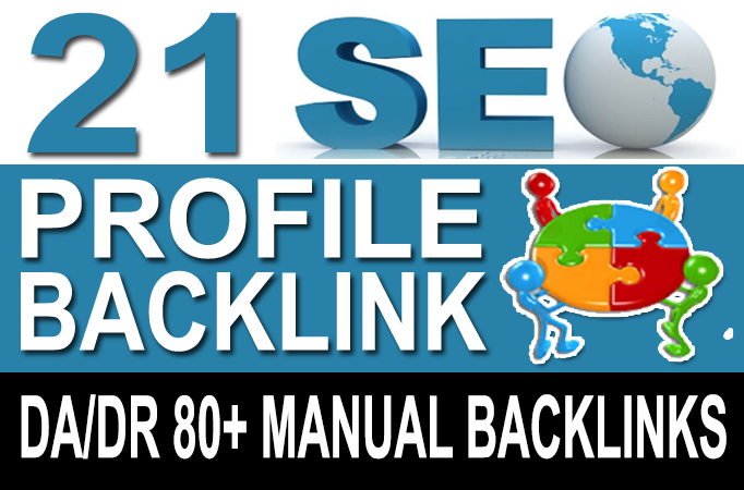 Super High Authority Manual Profile Backlinks for your Website's Natural Rankings Quickly