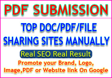 File or PDF Sharing to Authority Top 20 file and doc or PDF Sharing sites manually