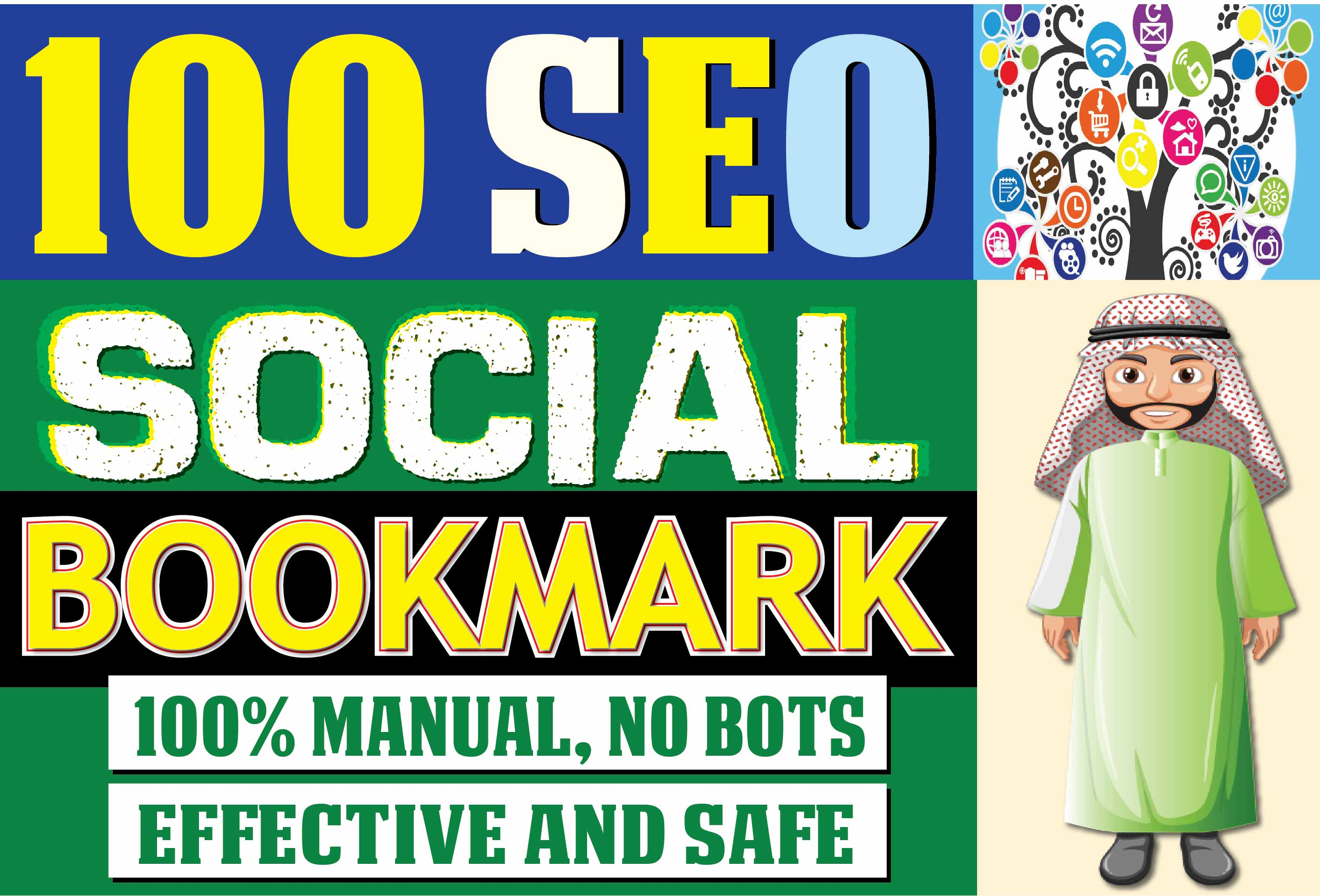 Nuclear Manual SEO 100 Social Bookmarks and Backlinks for google top search results