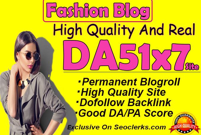 give backlink da51x7 site Fashion blogroll Permanent