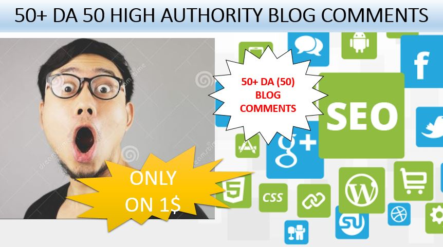 Provide Unique 50+ 50 blog comments high authority backlinks