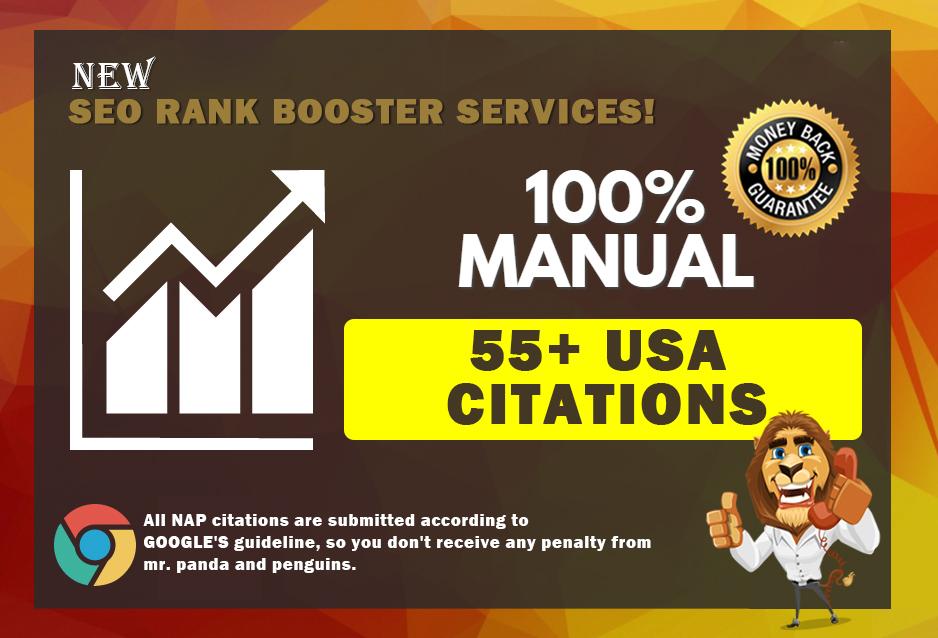 Do 55 Local Citations Manually For Local SEO Ranking