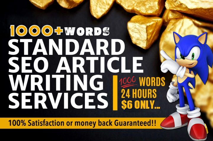 1000 Words UNIQUE Informative SEO Article Writing Services