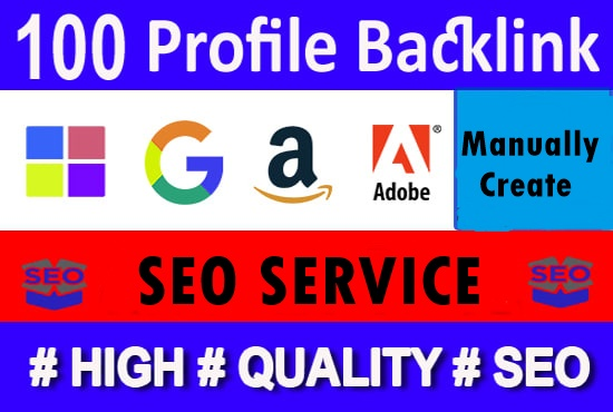 100+ high quality profile backlinks-High DA PA Backlinks-Top service in seoclerk