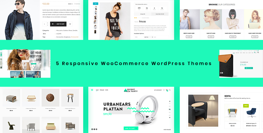 Give You 5 Responsive WooCommerce WordPress Themes