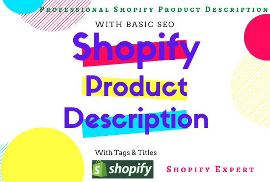 Get here shopify product description killer SEO title and tags