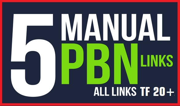 I will create 5 high quality pbns backlinks on high tf cf sites