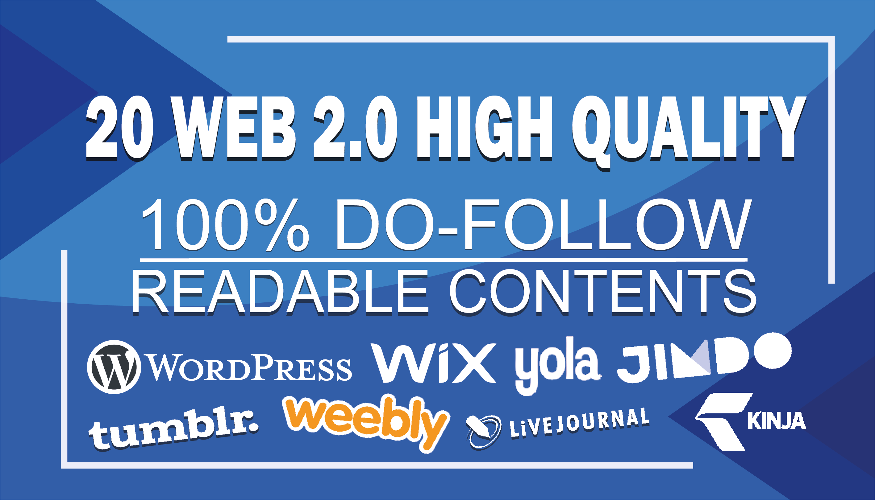 Create 20 High Quality Web 2.0