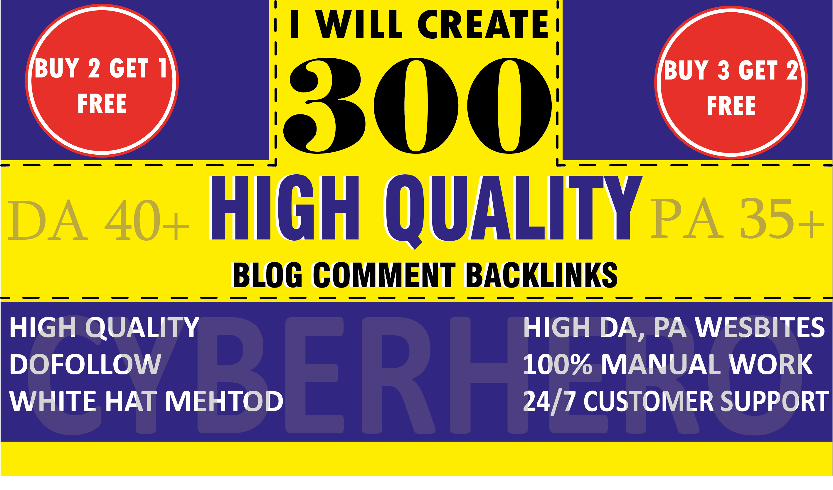 Create 300 Dofollow Blog Comments on actual page with HIGH DA PA