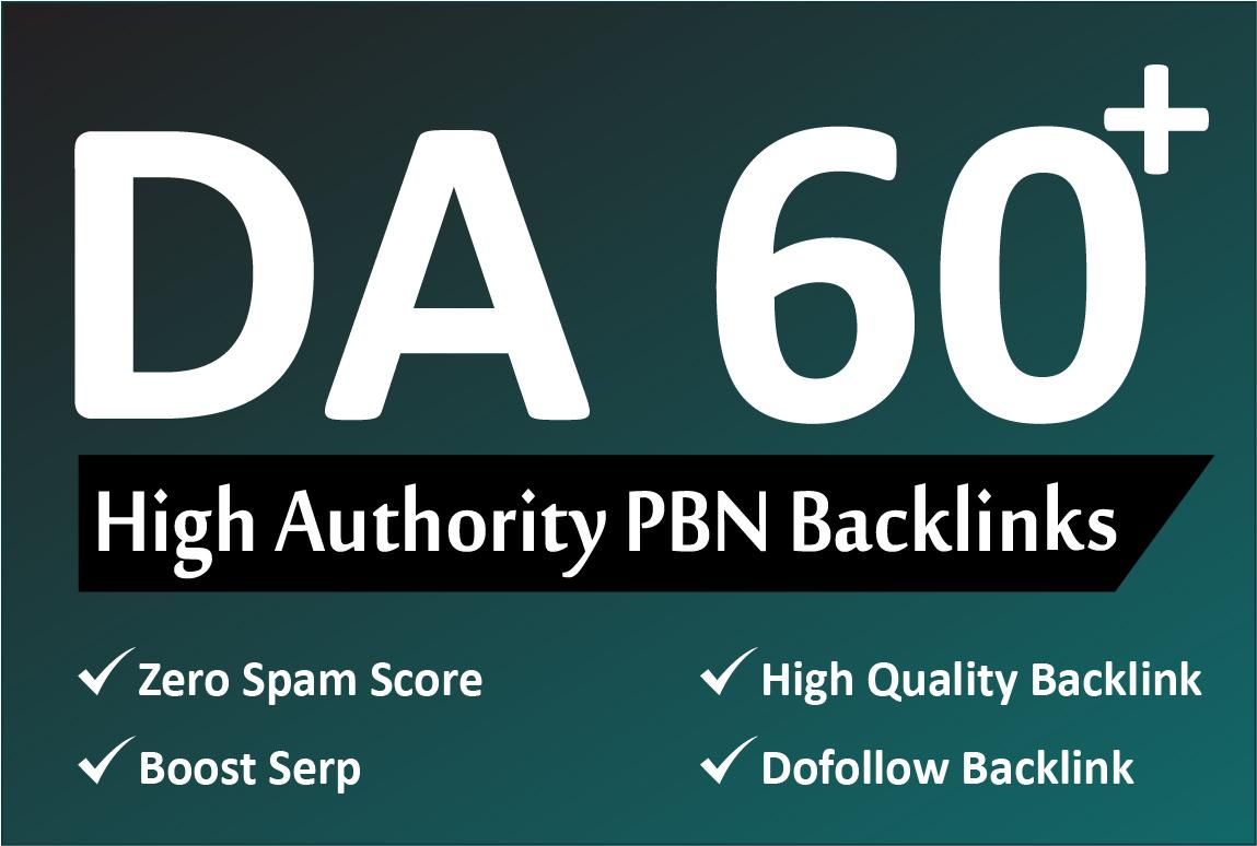 Create 25 DA 60+ Homepage PBN Backlinks
