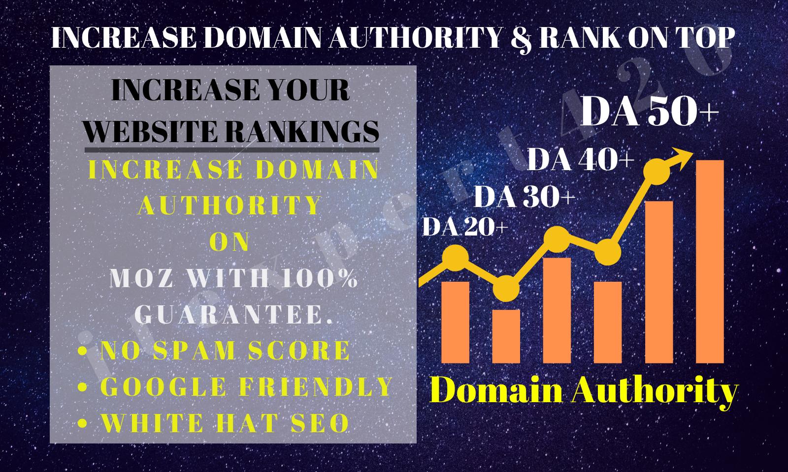 I will increase domain authority 100 Guarantee