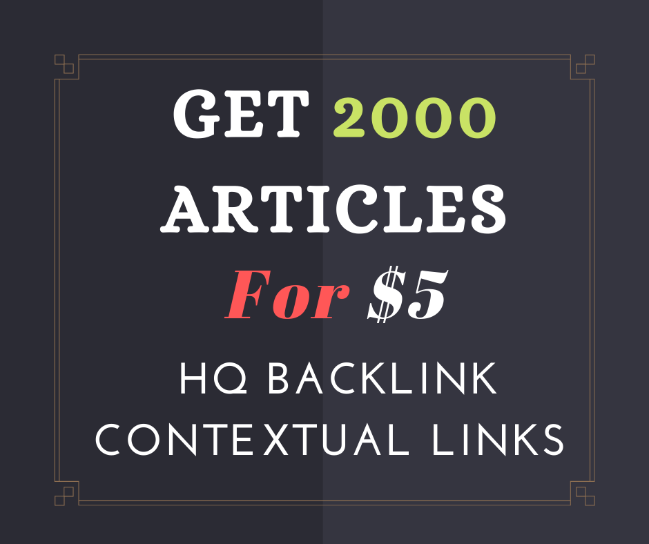 Get 2000 articles including your link