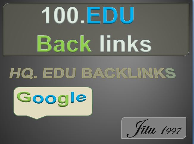 100 High Quality Build .Edu backlink