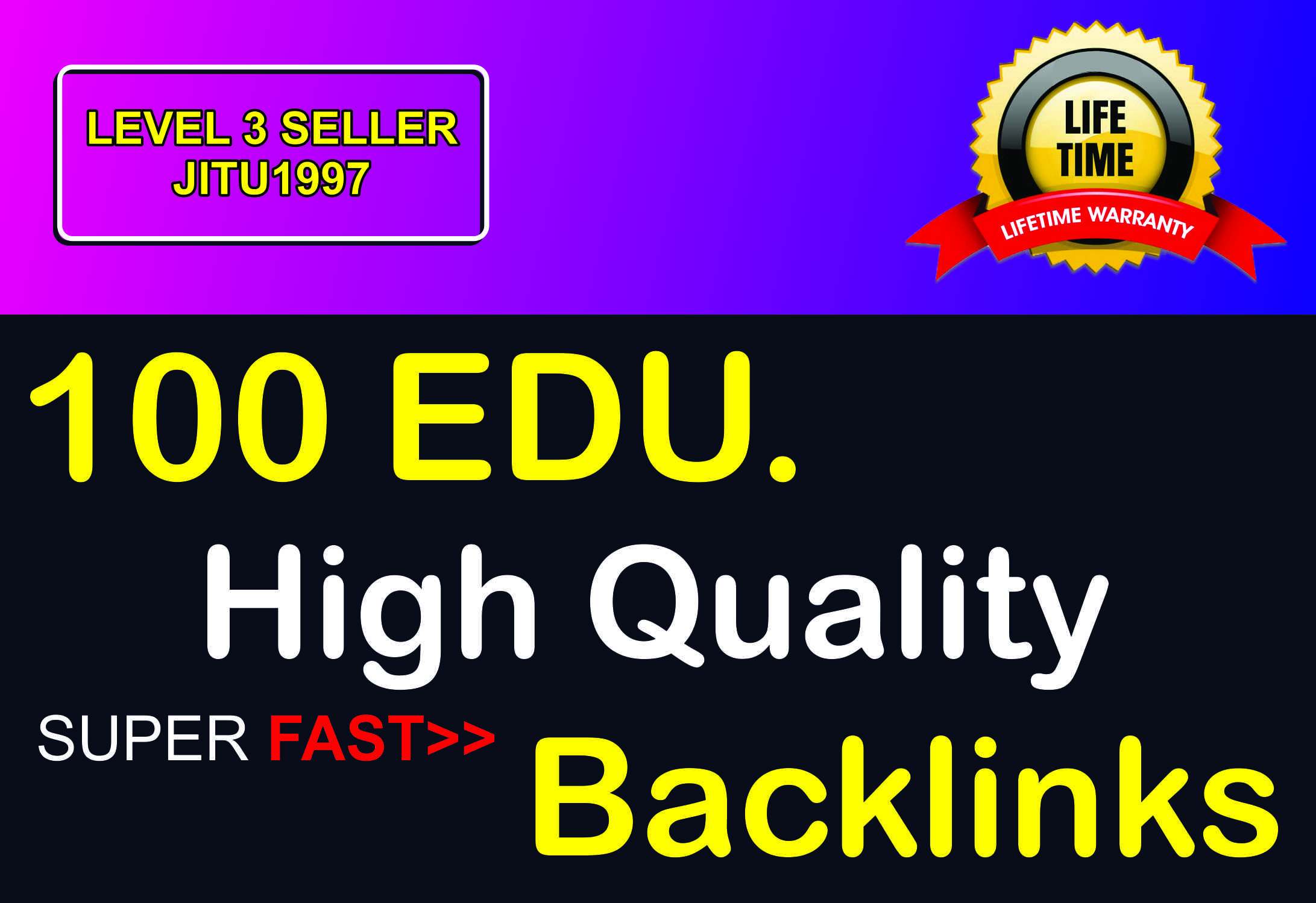 I Will Provide High Quality 100 EDU Backlinks