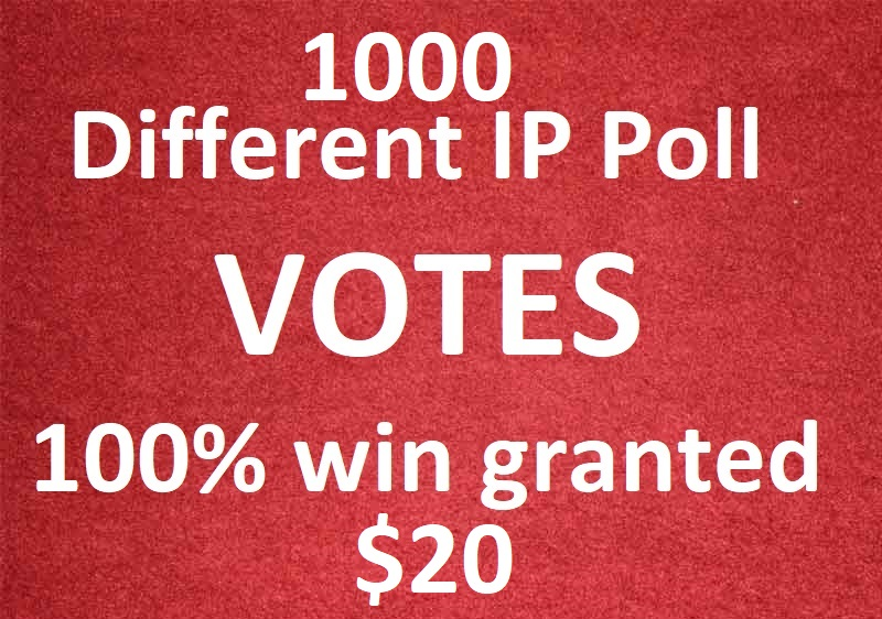 Bring 1000 different ip votes from unique ip address