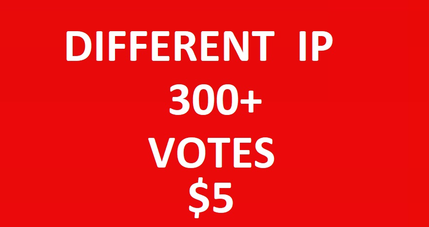 Get fast promote 300 different ip votes from unique ip address