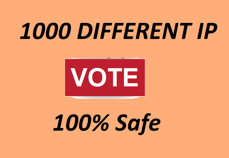 Get 1000 Different IP votes contest that you are participating