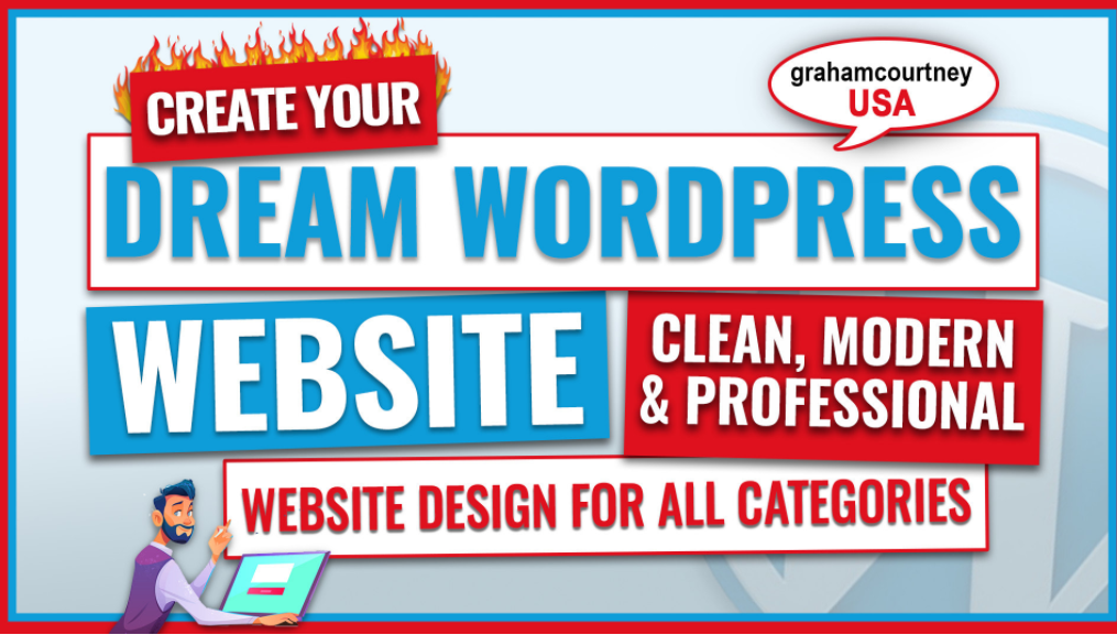 create wordpress website design, build website in 3 day