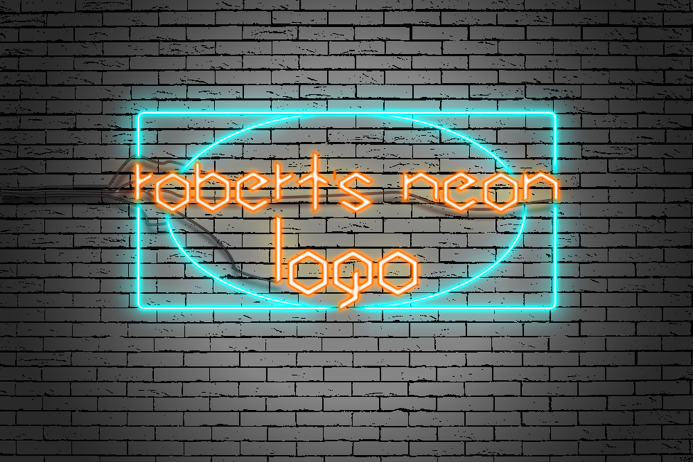 Designing a neon sign company logo