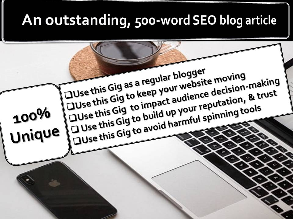 500Word Outstanding SEO Blog Articles On Any Topic