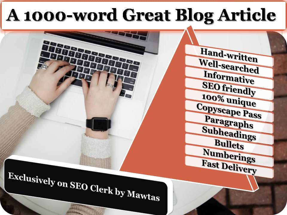 An exceptional, 1000-word blog article on any topic