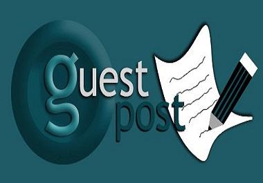 I will Publish five guest post on high da 80 plus website SEO backlinks