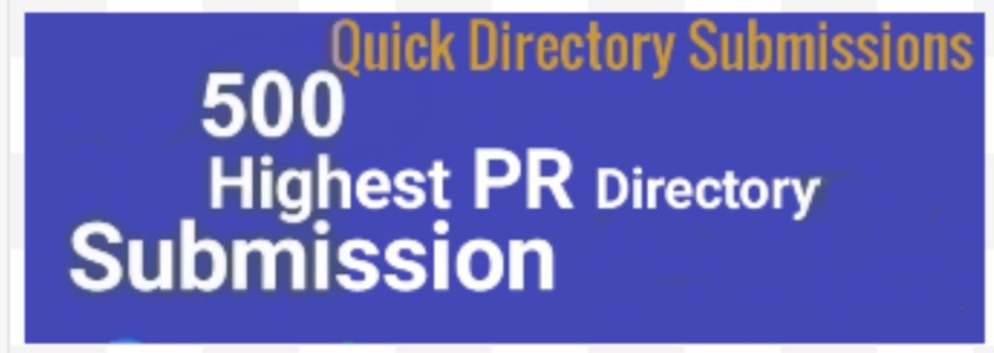 Quickly Submit your website to 500 directories