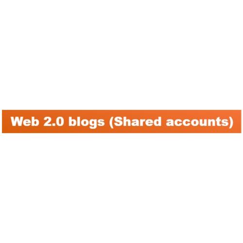28 Web 2.0 blogs Shared accounts