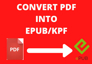 I will Convert your Pdf Into Epub / Ebook For amazon Kindle and other
