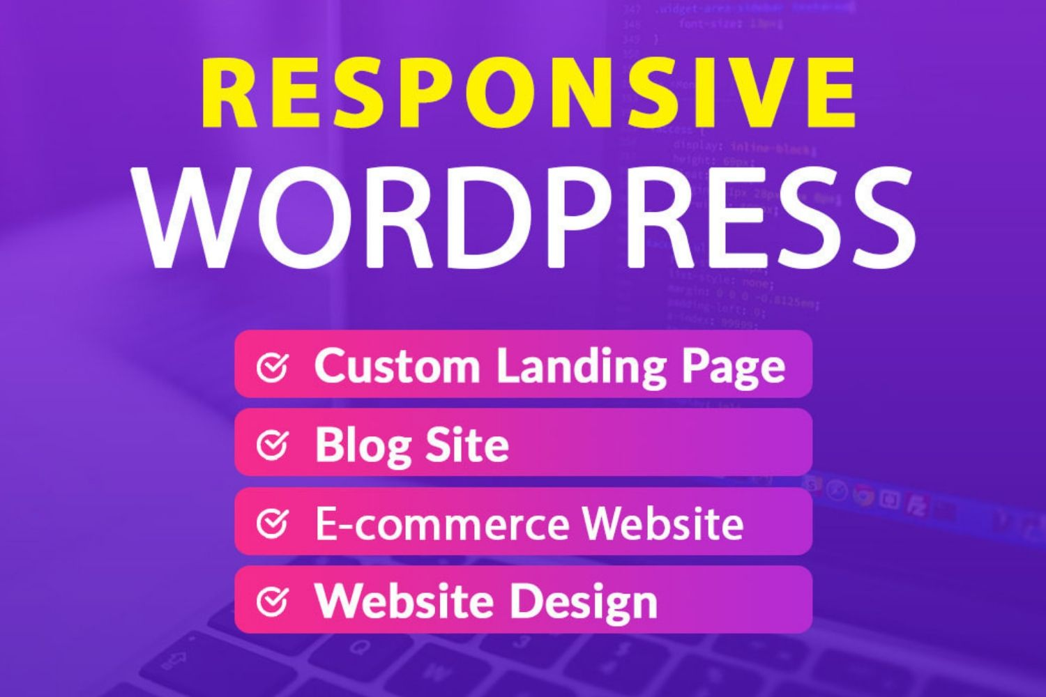 Create A Professional Responsive WordPress Website And Blog Site