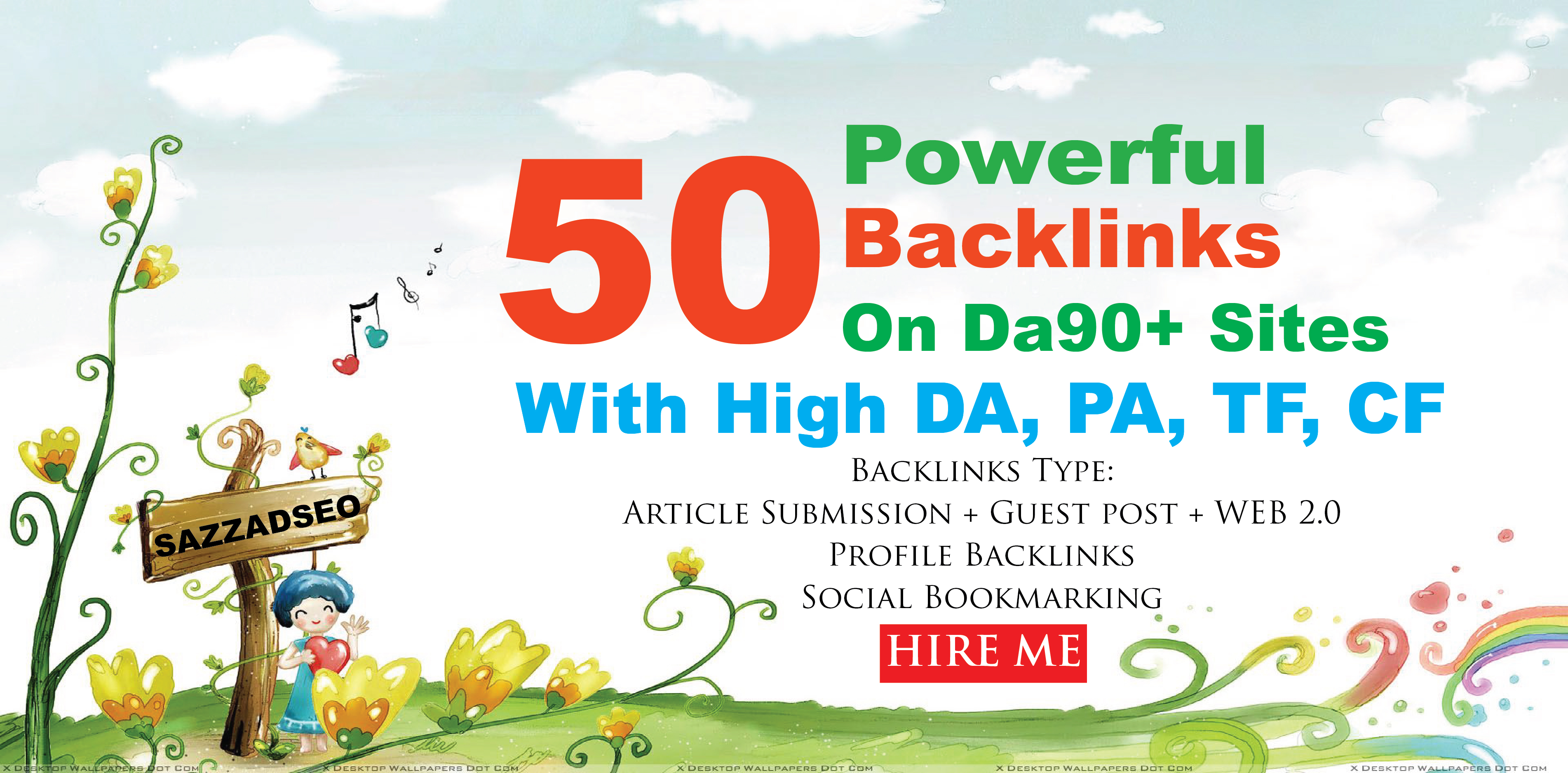Increase Ranking with 50 Unique Domain High Authority Backlinks On Da 90+ Sites