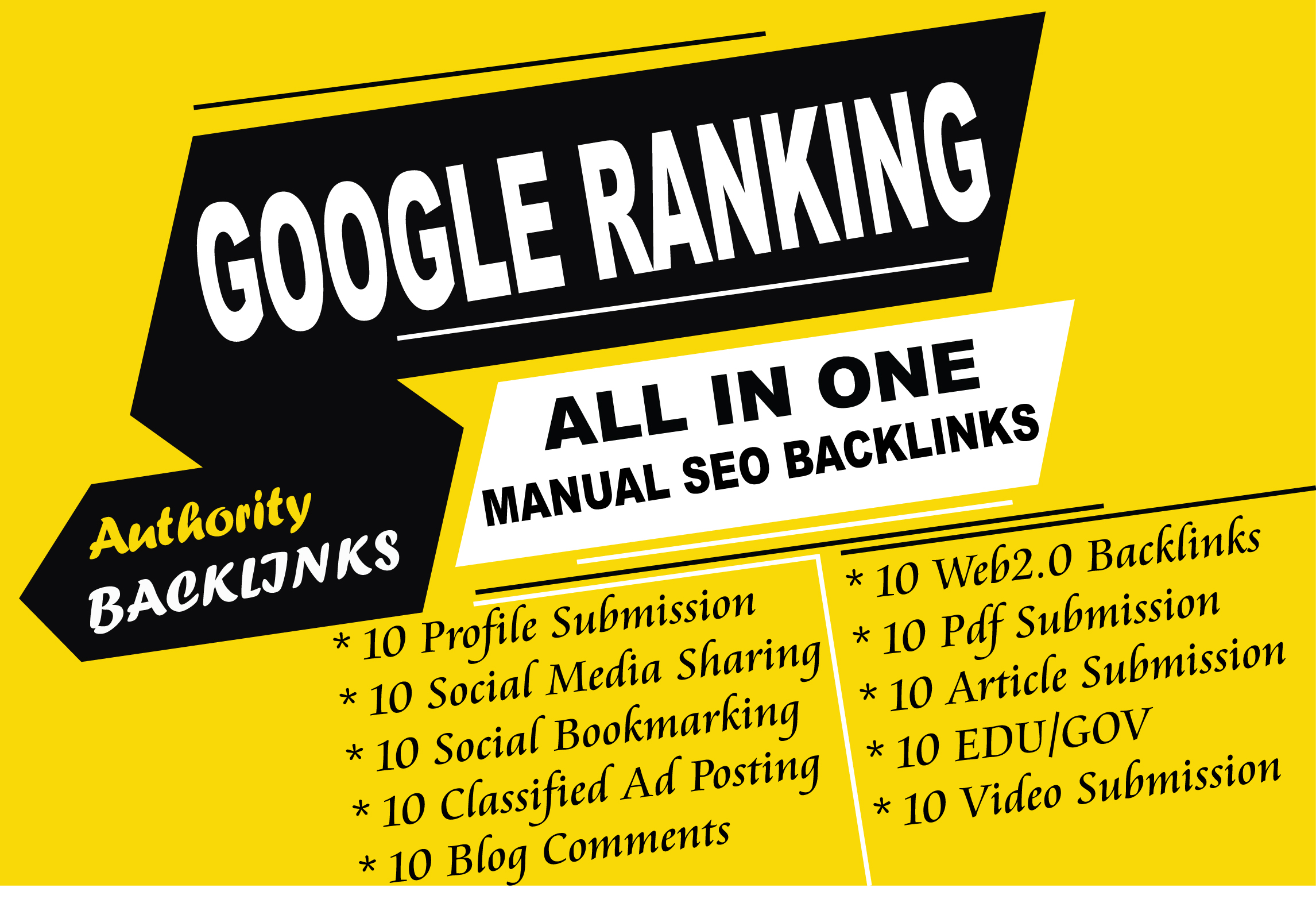 All in one high authority manual quality backlinks